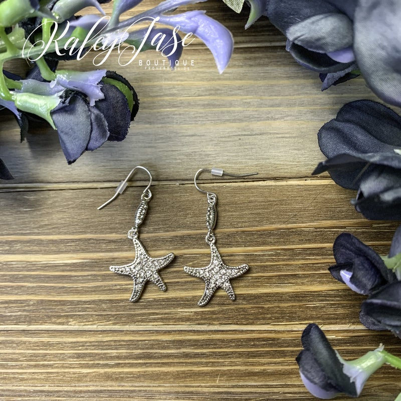 Starfish Drop Earrings -A6