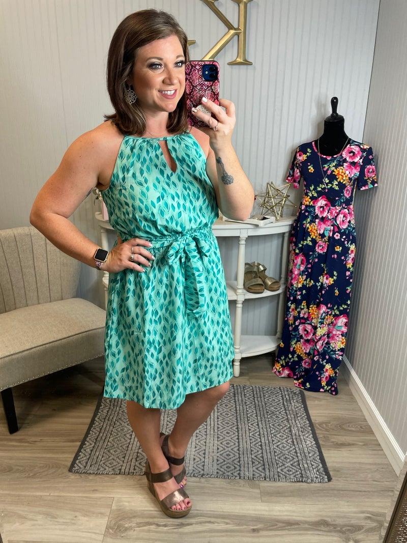 Halter Smocked Waist Dress