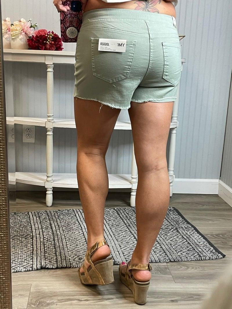 YMI Distressed Frey Hem Pull On Shorts