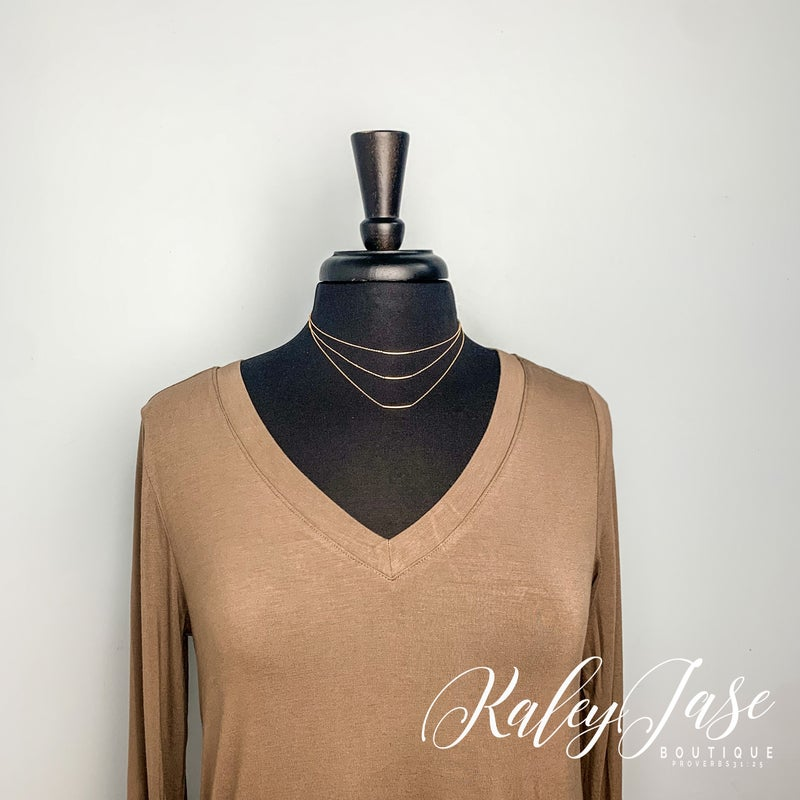 Layered Lines Necklace -C6