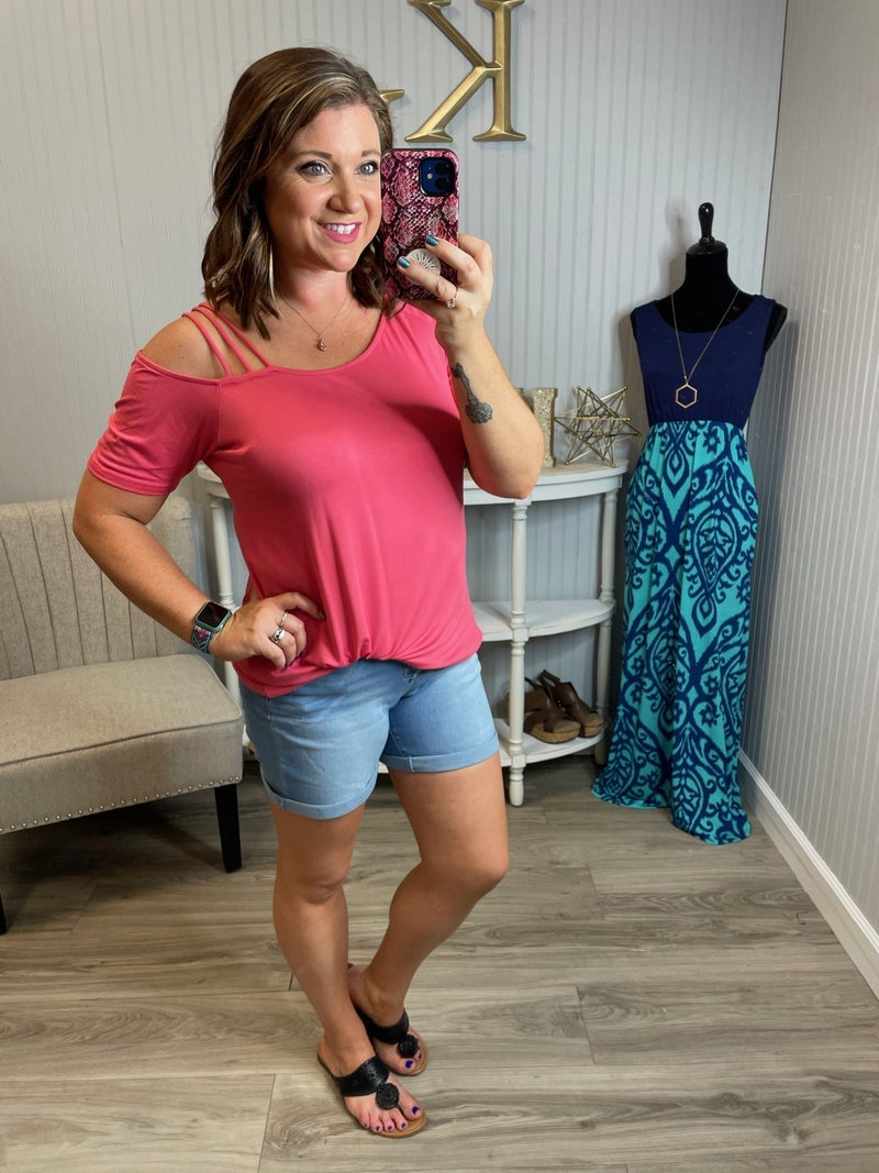 Coral Strappy Top
