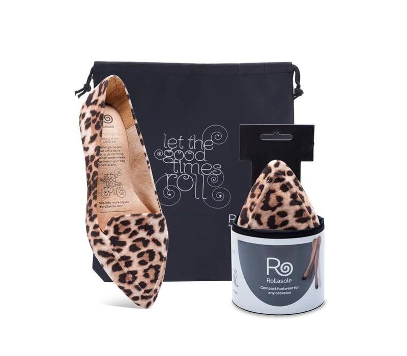 Leopard Loafer Rollasole Flats