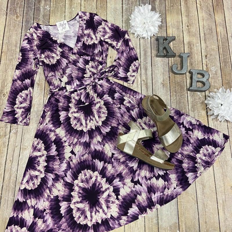 John 3:16 Purple Tie Dye Dress