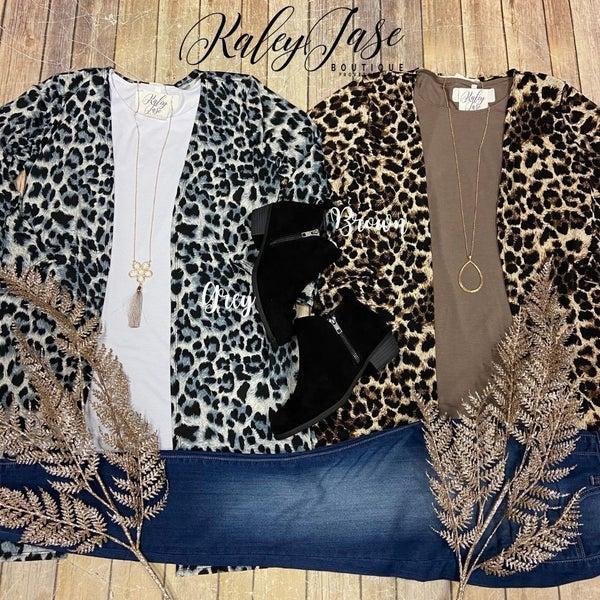 Sleek Leopard Cardigan