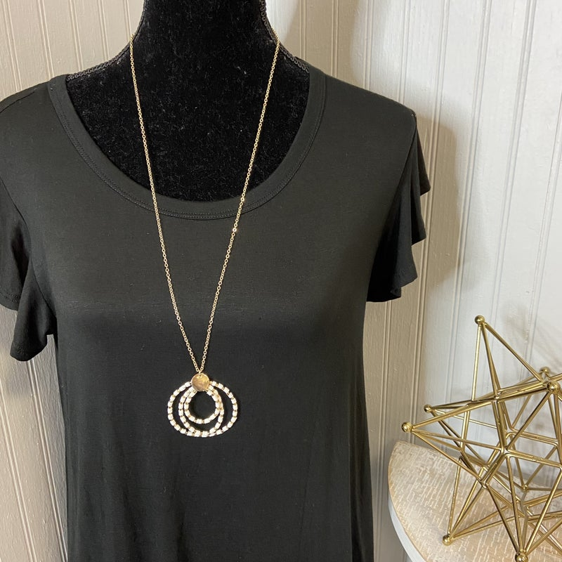 Beaded Inner Circle Necklace