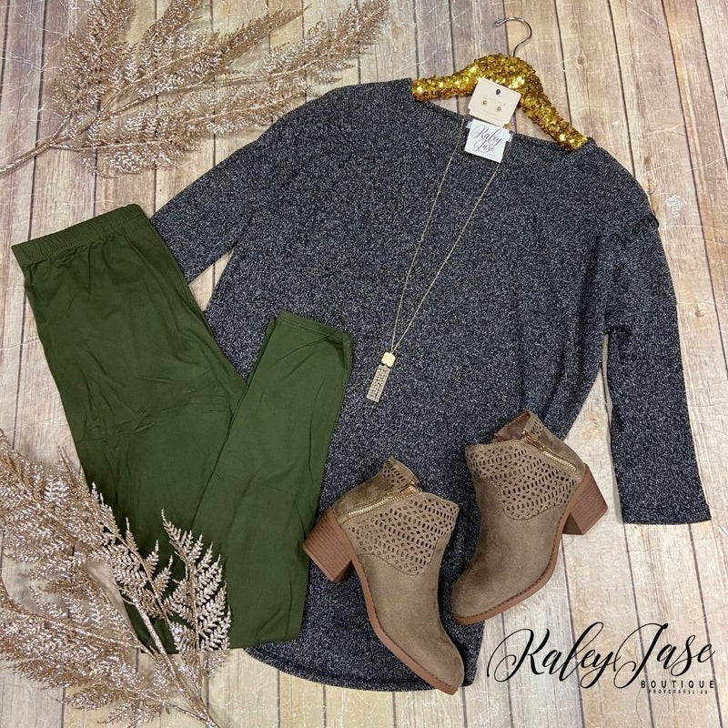Heathered Knit Sweater
