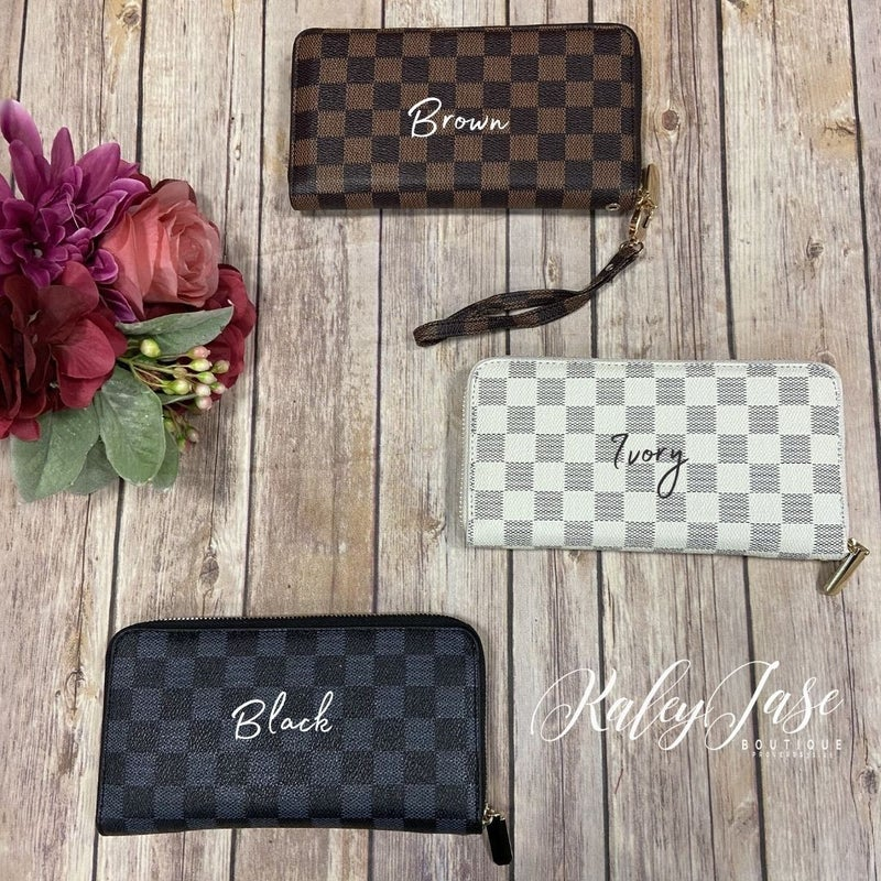 Checkered Wallets