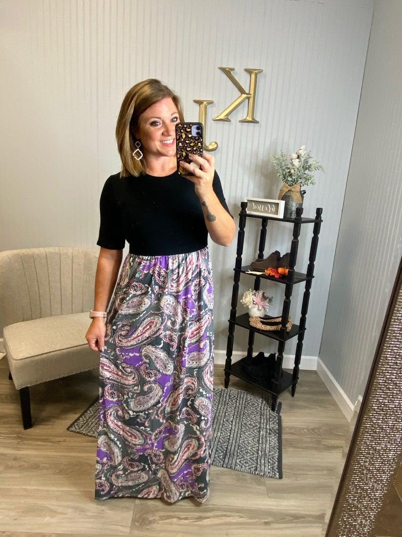 Paisley Bottom Maxi Dress