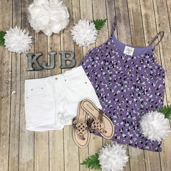 Lavender Spotted Adjustable Tank *Final Sale*