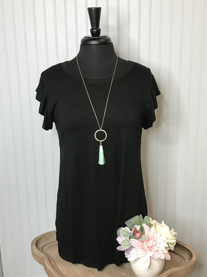 Circle Tassel Pendant Necklace #40-#42