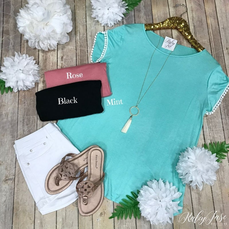 Accented Sleeve Top
