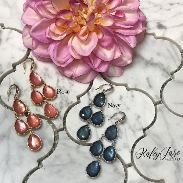 Jeweled Tiered Drop Earrings -E3