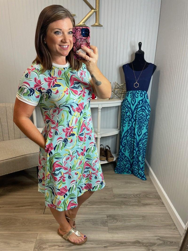 PR Soft Leaves Dress