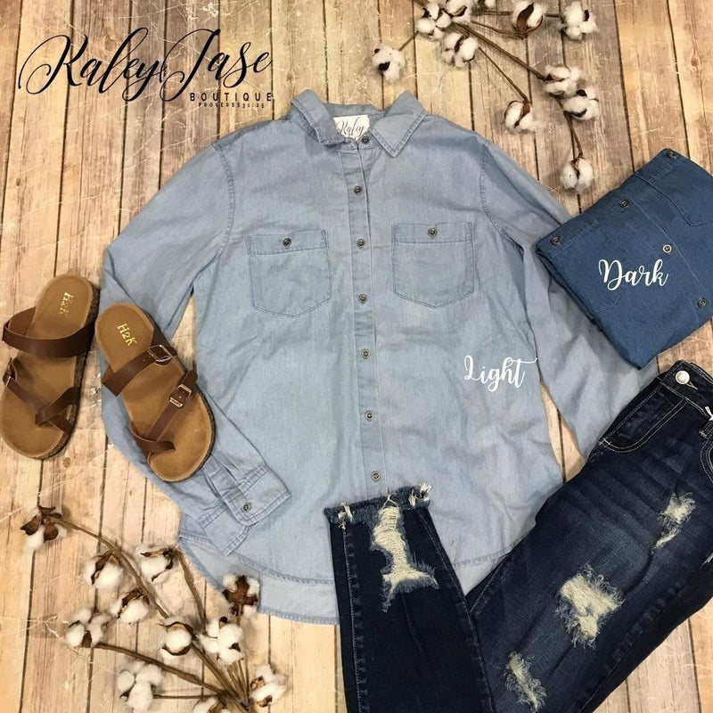 Button Up Denim Top