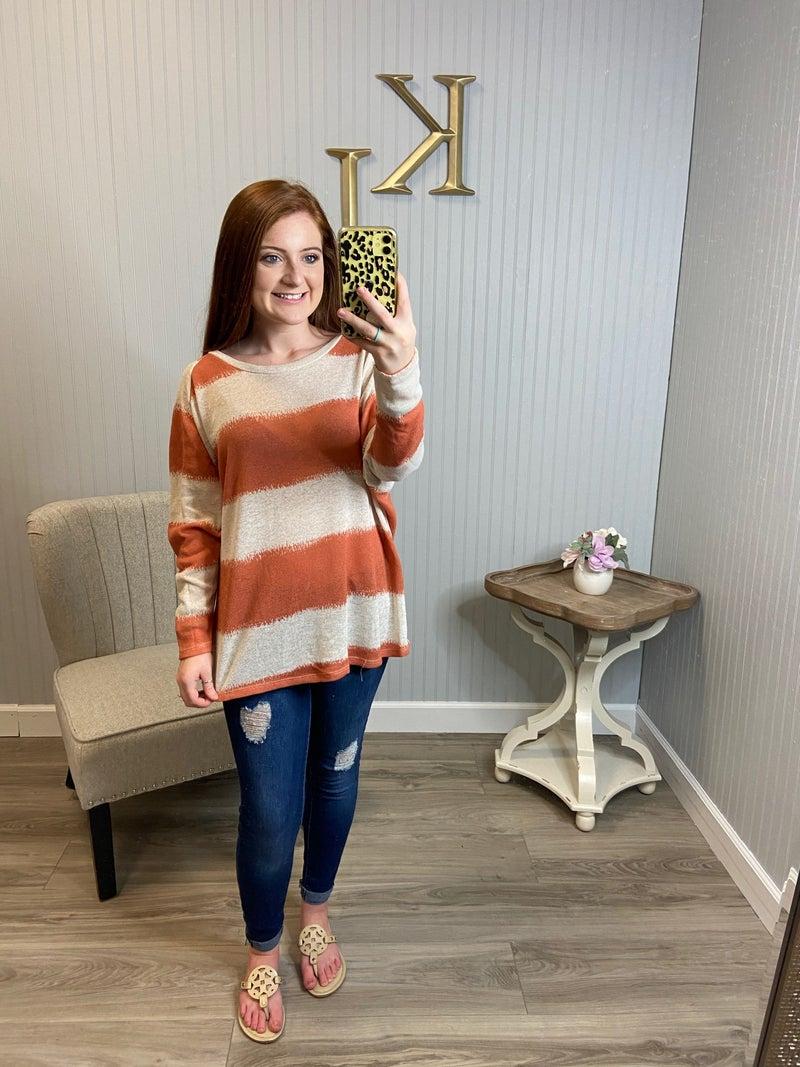 Striped Dolman Sweater