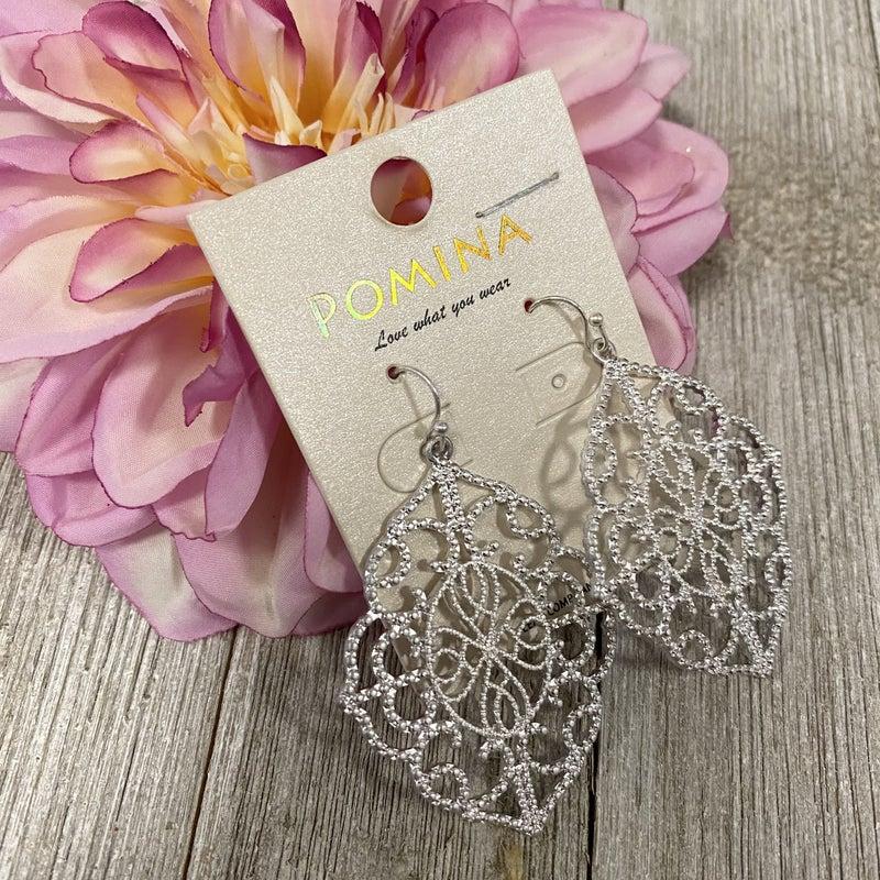 Silver Intricate Design Earrings