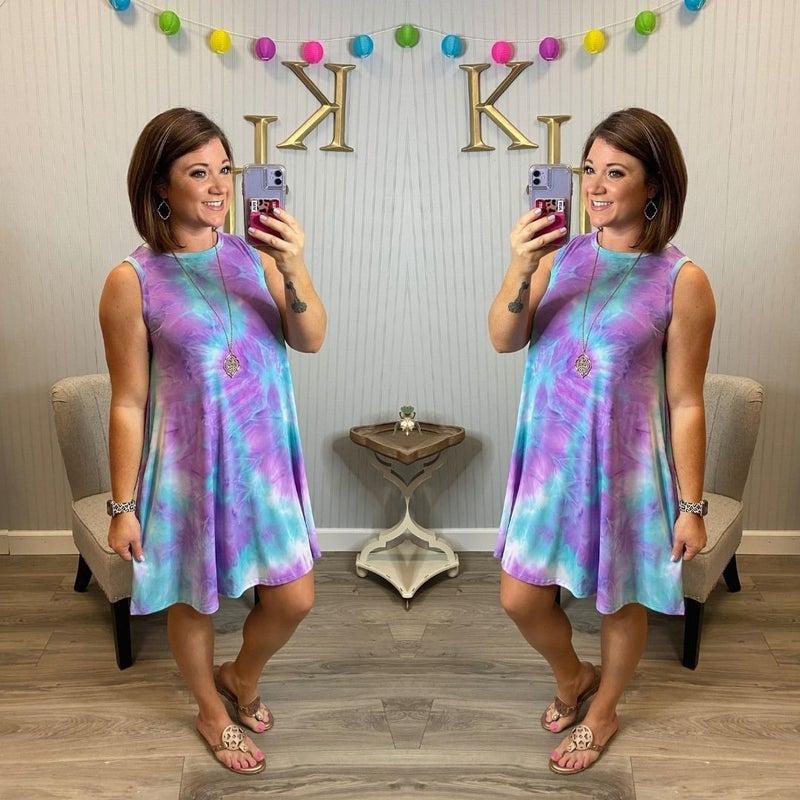 Pastel Tie Dye Sleeveless Dress