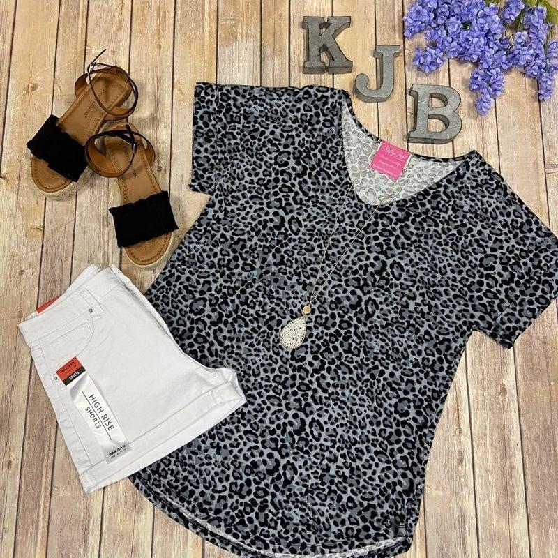 Leopard Cuff Sleeve Top