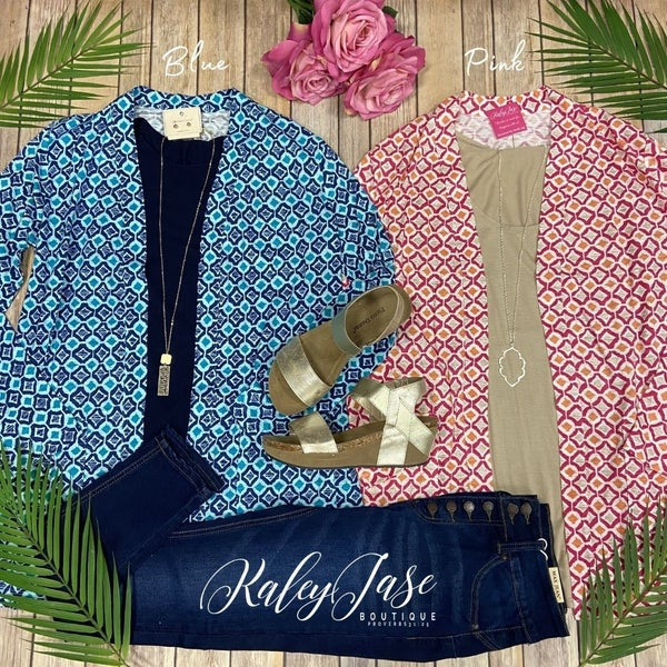 Bright Diamond Printed Cardigan