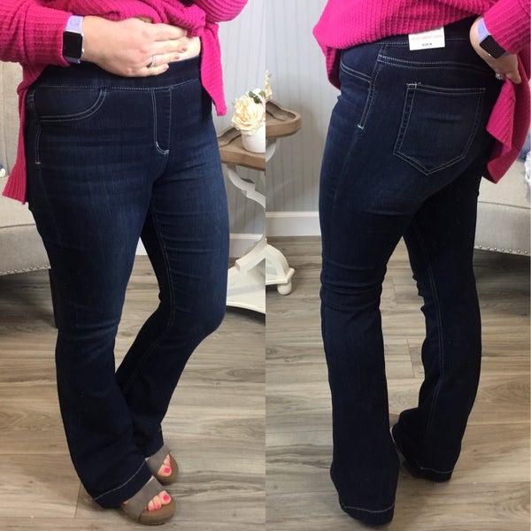 Cello Dark Wash Flare Jeans