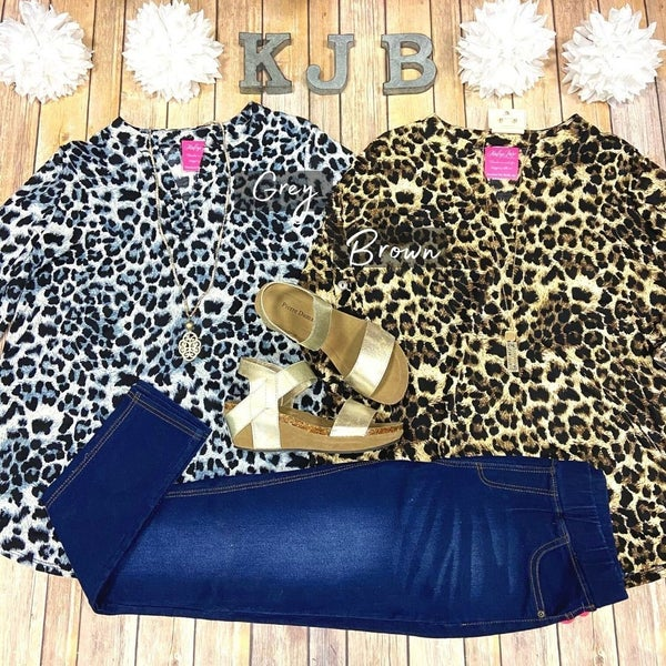 SIL Wild Leopard Gabby Top *Final Sale*