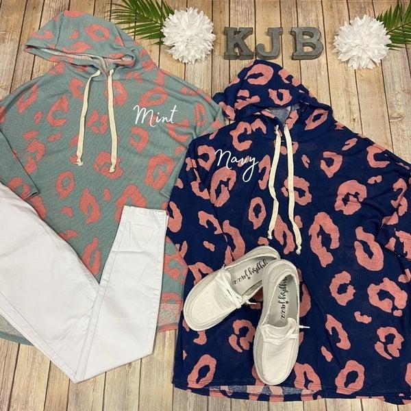 HM Leopard Knit Hoodie