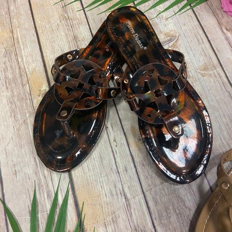 Patent Cutout Sandals