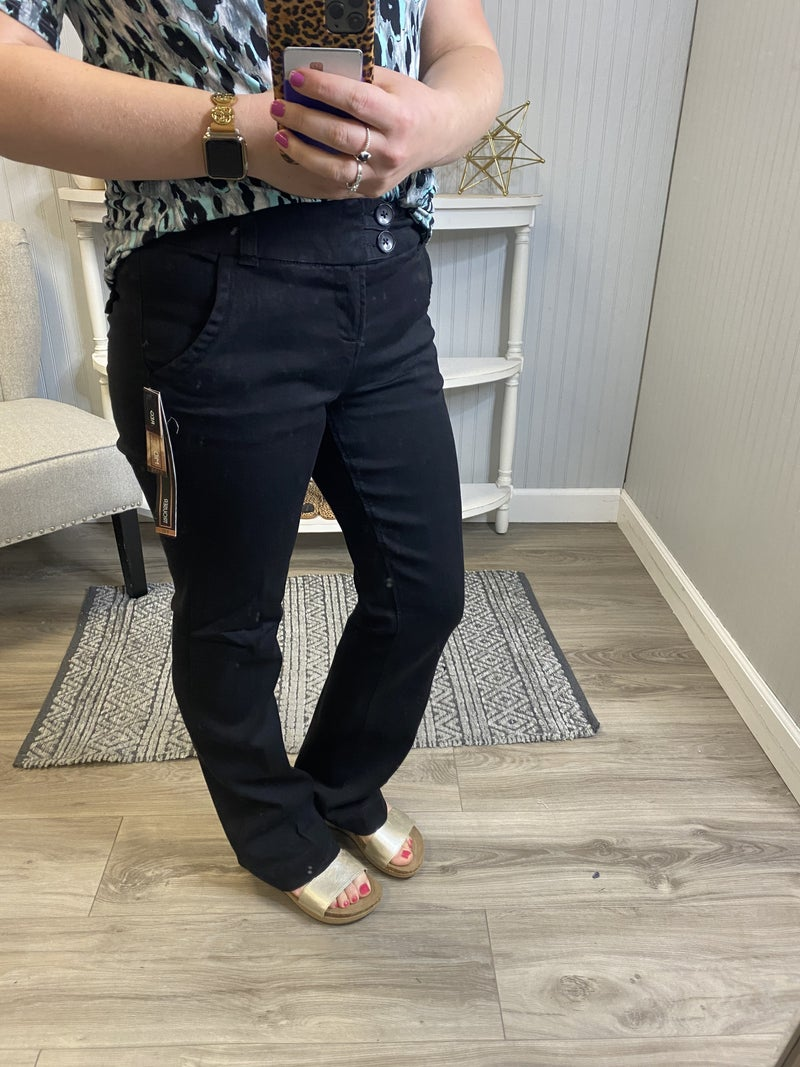 One5One Black Bootcut Jeans