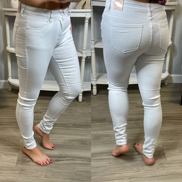 WX White Stretch High Rise Skinny Jeans