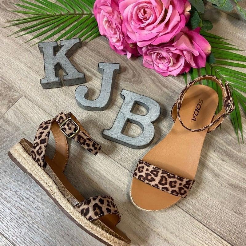 Leopard Flat Sandal