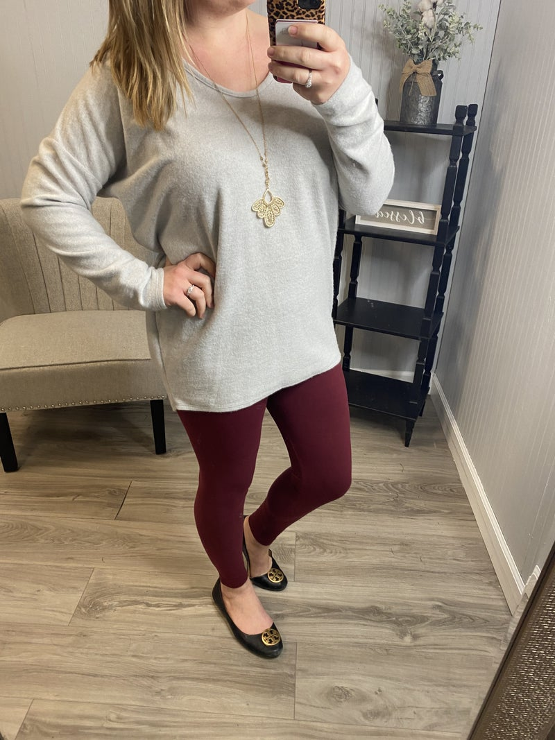 HM Brushed Soft Scoop Top