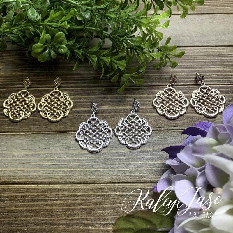 Detailed Ornate Drop Earrings