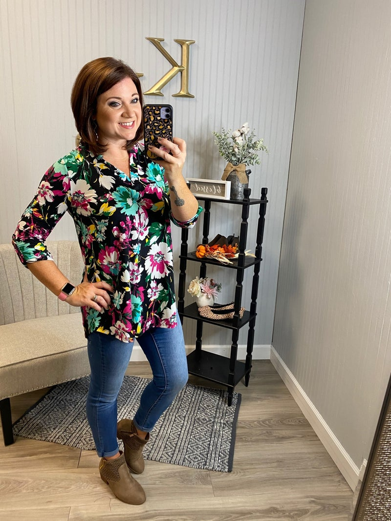 SIL Black Bright Floral Gabby