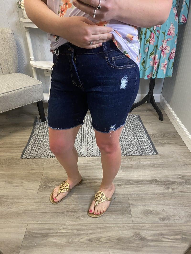 Legend Distressed Bermuda Shorts