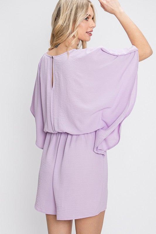 Lavender Flutter Style Romper