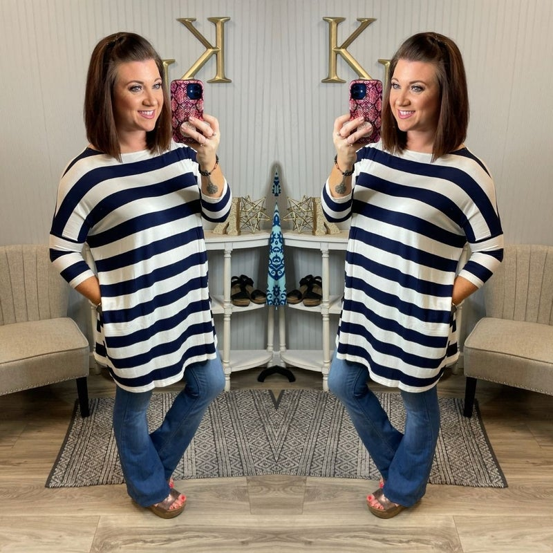 Z Striped Tunic