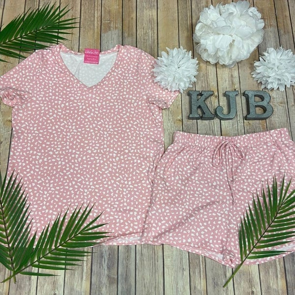 Blush Spotted PJ Set
