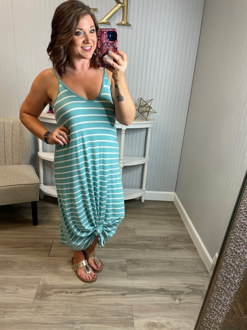 Z Adjustable Striped Dress