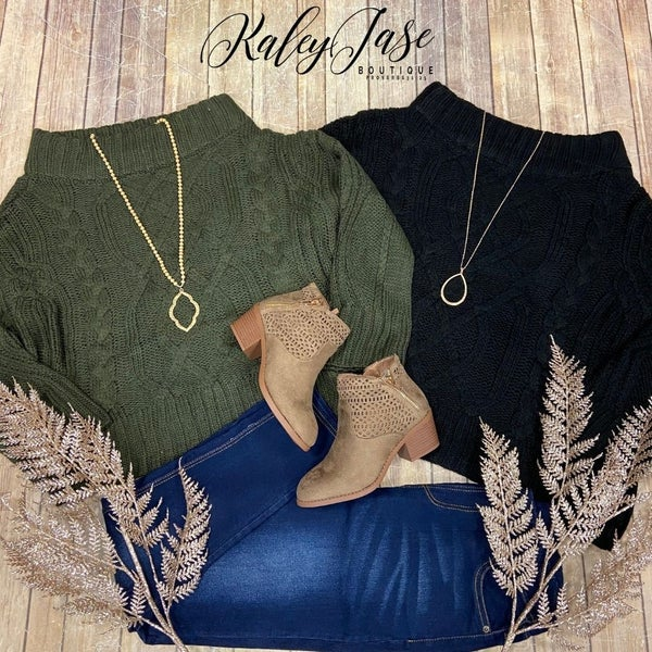 Detailed Knit Slouchy Sweater