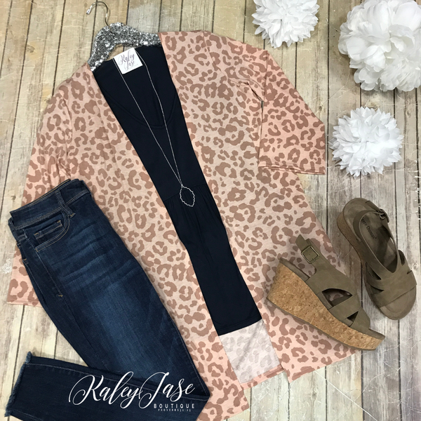 Mocha Leopard Cardigan