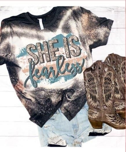 She is Fearless Bleach Graphic Tee