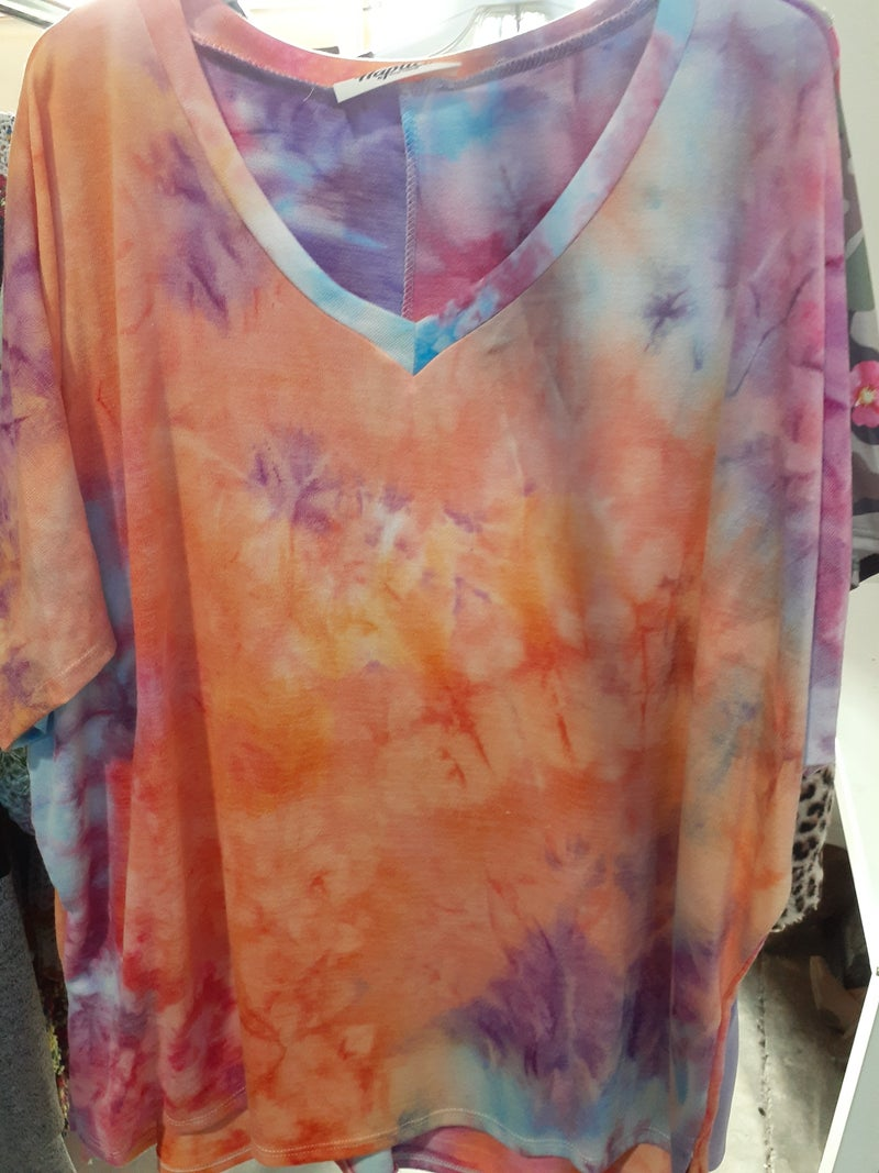 Orange Tie Dye Burst