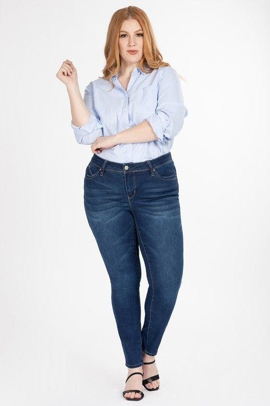 YMI Sassy Mid-Rise Jeans