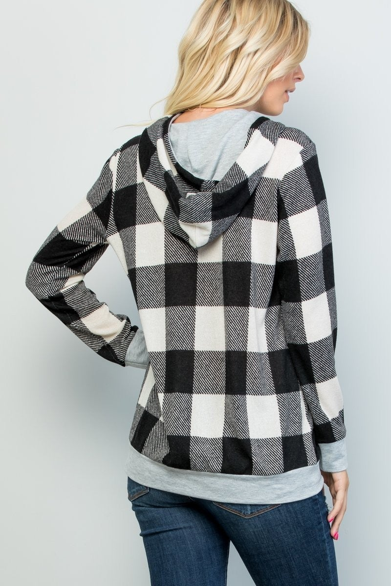 Cozy As Can Be Plaid Hoodie