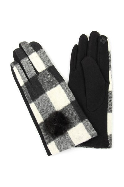 Plaid to Meet You Smart Touch Gloves