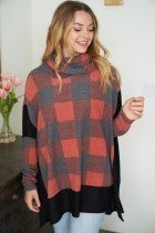 Thinking Out Loud Plaid Top