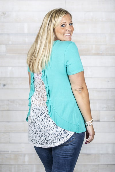 Lacy Back Top