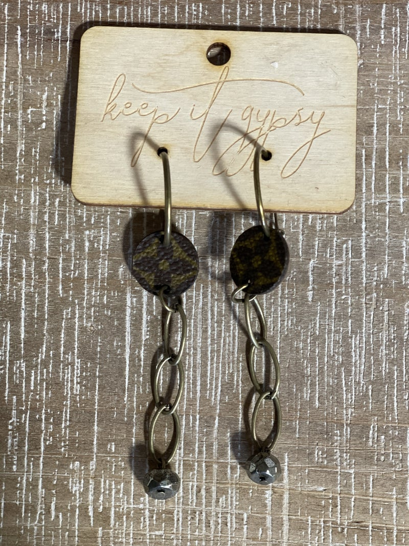 Upcycled LV Chain Link Earrings