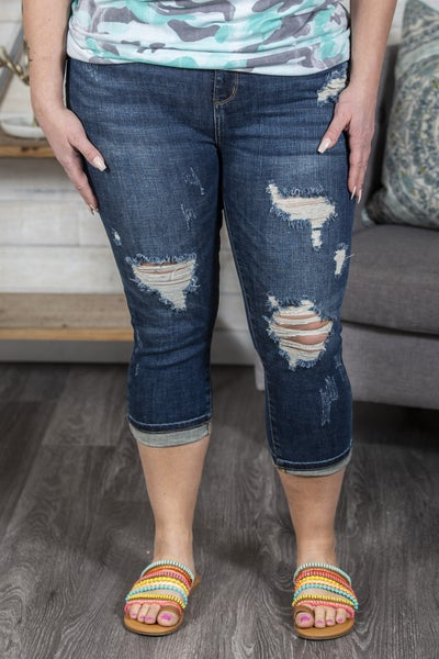 Destroyed Judy Blue Skinny Capri
