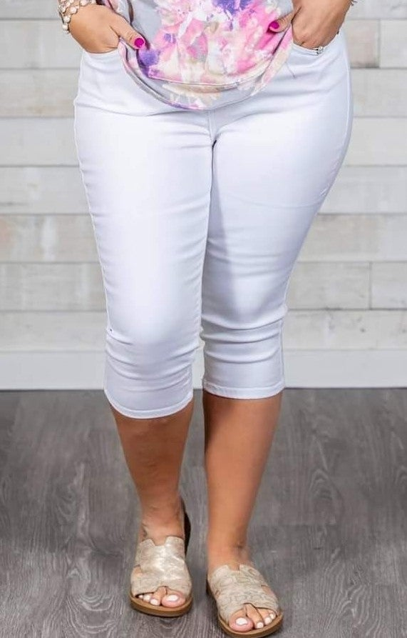 White Judy Blue Capri